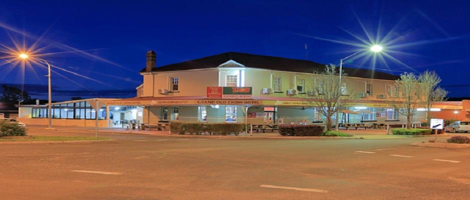 Grand Old Crow Hotel by Night